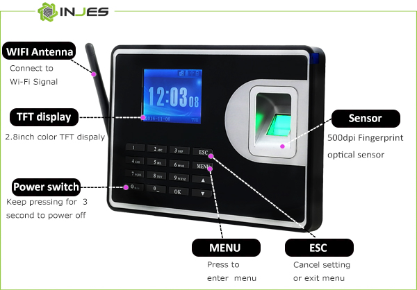 Web Server Thumbprint Time Attendance System